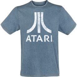 Atari Logo T-Shirt niebieski. Niebieskie t-shirty męskie z nadrukiem marki ATARI, m, z okrągłym kołnierzem. Za 79,90 zł.