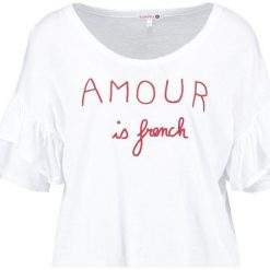 T-shirty damskie: Sundry RUFFLE SLEEVE  Tshirt z nadrukiem white