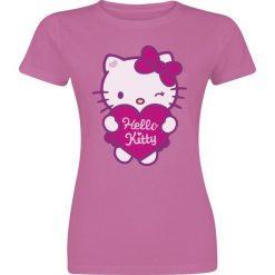 Hello Kitty Heart Koszulka damska jasnoróżowy (Light Pink). Czerwone bluzki damskie Hello Kitty, xxl, z motywem z bajki, z okrągłym kołnierzem. Za 62,90 zł.