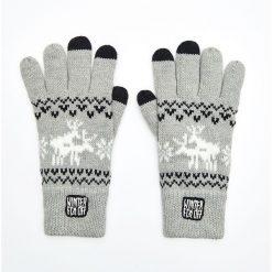 Pięciopalczaste rękawiczki - Szary. Szare rękawiczki męskie Cropp. Za 49,99 zł.