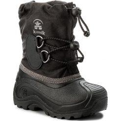 Śniegowce KAMIK - Southpole4 NK8727 Black. Czarne buty zimowe chłopięce marki Kamik, z materiału. W wyprzedaży za 219,00 zł.