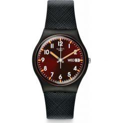 ZEGAREK SWATCH GENT. Brązowe zegarki męskie Swatch, sztuczne. Za 235,00 zł.
