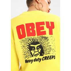 Bluzy damskie: Obey Clothing HEAVY DUTY CREEPS Bluza lemon