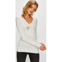 Guess Jeans - Sweter. Szare swetry klasyczne damskie Guess Jeans, m, z dzianiny. Za 319,90 zł.