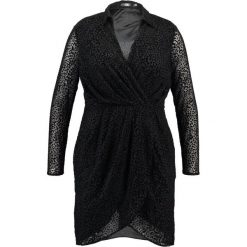 Sukienki hiszpanki: Missguided Plus OVER LEOPARD DRESS Sukienka letnia black