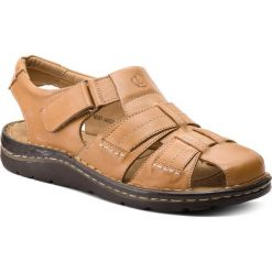 Sandały LASOCKI FOR MEN - MI07-A692-A551-04 Beżowy. Brązowe sandały męskie skórzane Lasocki For Men. W wyprzedaży za 139,99 zł.
