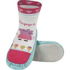Soxo - Kapcie dziecięce Peppa Pig. Szare kapcie dziewczęce Soxo, z materiału. Za 27,99 zł.