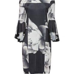 Sukienki: Sukienka neoprenowa bonprix czarno-biały