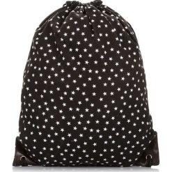 Plecaki damskie: MŁODZIEŻOWY PLECAK WOREK CZARNY