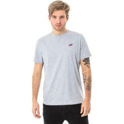 4f Koszulka męska H4L18-TSM002 jasnoszara r. L. Szare koszulki sportowe męskie 4f, l. Za 27,47 zł.