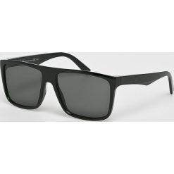 Medicine - Okulary Monumental. Brązowe okulary przeciwsłoneczne męskie aviatory MEDICINE, z materiału. W wyprzedaży za 14,90 zł.