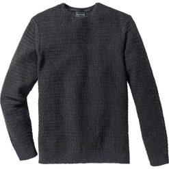 Swetry męskie: Sweter Regular Fit bonprix antracytowy melanż