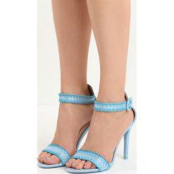Niebieskie Sandały Holy Grail. Niebieskie rzymianki damskie Born2be, z materiału, na wysokim obcasie, na obcasie. Za 59,99 zł.