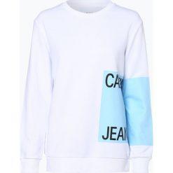 Calvin Klein Jeans - Damska bluza nierozpinana, czarny. Czarne bluzy damskie Calvin Klein Jeans, l, z napisami, z jeansu. Za 379,95 zł.