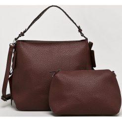 Answear - Torebka Nomad. Brązowe torebki klasyczne damskie ANSWEAR, w paski, z materiału, duże. Za 149,90 zł.
