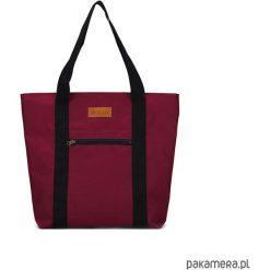 Duża torba Miss Szoperka 1 - burgund. Czerwone shopper bag damskie marki Pakamera, z tkaniny, duże. Za 189,00 zł.