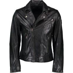 """Kurtki męskie bomber: Skórzana kurtka """"Black Eagle"""" w kolorze czarnym"""