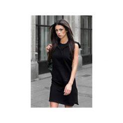 """Sukienka """"Black Hoodie"""" - Bohater x Paula Tomczyk. Czarne sukienki dzianinowe marki Sinsay, l, z kapturem. Za 104,30 zł."""
