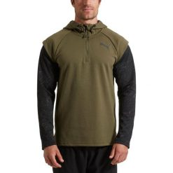 Bluzy męskie: Puma Bluza męska 1/4 Zip Energy Hoodie zielona r. M (515656 03)