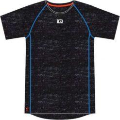 IQ Koszulka męska Asher Navy Melange/ Flame r.  M. Szare koszulki sportowe męskie marki IQ, l. Za 61,97 zł.