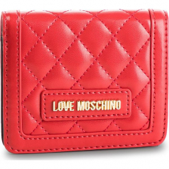 Mały Portfel Damski LOVE MOSCHINO - JC5614PP17LA0500 Rosso. Czerwone portfele damskie Love Moschino, ze skóry ekologicznej. Za 339,00 zł.