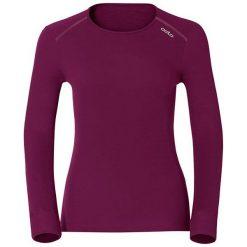 Odlo Koszulka tech. Odlo Shirt l/s crew neck WARM - 152021 - 152021XS. Czerwone topy sportowe damskie marki Odlo, l. Za 169,95 zł.