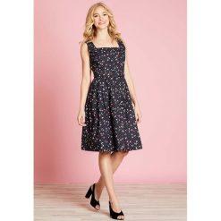 Sukienki hiszpanki: Sukienka midi, rozszerzana, rozkloszowana, w groszki