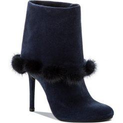 Botki EVA MINGE - Martita 2J 17BD1372199EF 807. Niebieskie buty zimowe damskie Eva Minge, z materiału. W wyprzedaży za 279,00 zł.