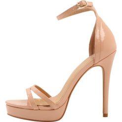 Rzymianki damskie: Head over Heels by Dune MILANIA Sandały na obcasie nude patent