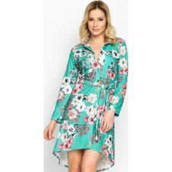 Zielona Sukienka Sketch. Zielone długie sukienki marki Born2be, m, klasyczne, z klasycznym kołnierzykiem, z długim rękawem, koszulowe. Za 94,99 zł.
