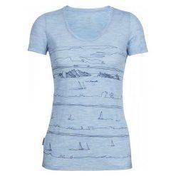 Bluzki, topy, tuniki: Icebreaker Koszulka Sportowa Wmns Tech Lite Ss Scoop Porto Isle Mist Blue Hthr S