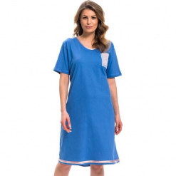 Koszula nocna w kolorze niebieskim. Niebieskie koszule nocne i halki Doctor Nap. W wyprzedaży za 57,95 zł.