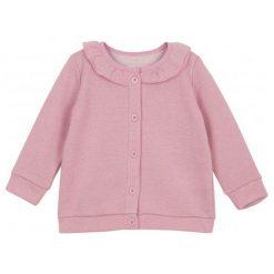 Bluzy dziewczęce: Rozpinana bluza ze srebrną nitką i ozdobną falbaną dla niemowlaka
