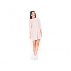 Sukienka K218 Róz. Szare sukienki balowe marki Lenitif, l. Za 129,00 zł.