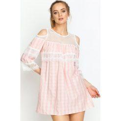 Różowa Sukienka Wild Hills. Czerwone sukienki hiszpanki Born2be, na lato, s, mini. Za 89,99 zł.