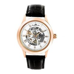 """Zegarki męskie: Zegarek """"CHP196"""" w kolorze czarno-różowozłotym"""