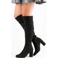 CZARNE KOZAKI NA OBCASIE. Czarne buty zimowe damskie FILIPPO, na obcasie. Za 177,90 zł.