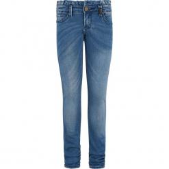 Dżinsy - Slim fit - w kolorze niebieskim. Niebieskie jeansy dziewczęce marki Retour Denim de Luxe, ze skóry. W wyprzedaży za 105,95 zł.