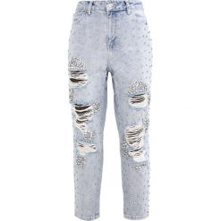 Topshop B&B GEM MOM Jeansy Relaxed Fit bleach. Szare jeansy damskie relaxed fit marki Topshop. W wyprzedaży za 395,45 zł.