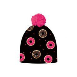 Czapka hauer CAKES. Czarne czapki zimowe damskie marki Hauer, z nadrukiem, z polaru. Za 69,00 zł.