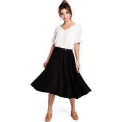 Odzież damska: Czarna Spódnica Rozkloszowana za Kolano