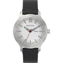 Nautica - Zegarek. Szare zegarki męskie Nautica, szklane. Za 599,90 zł.