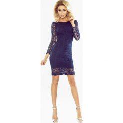 Dakota Sukienka koronkowa dopasowana - GRANATOWA. Niebieskie sukienki hiszpanki numoco, s, w koronkowe wzory, z koronki, dopasowane. Za 199,99 zł.