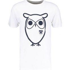 T-shirty męskie z nadrukiem: Knowledge Cotton Apparel OWL BADGE TEE Tshirt z nadrukiem white