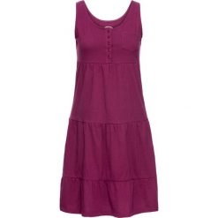 Sukienka bonprix jeżynowy. Sukienki na komunię bonprix, na plażę. Za 59,99 zł.