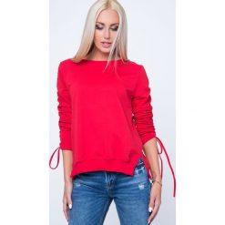 Bluzy rozpinane damskie: Bluza z kopertowym tyłem czerwona 1554