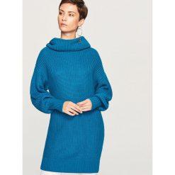 Sweter z golfem - Turkusowy. Niebieskie golfy damskie Reserved, l. Za 99,99 zł.