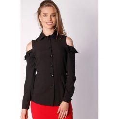 Koszule wiązane damskie: Koszula w kolorze czarnym
