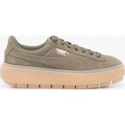 Puma - Buty Platform Trace Wn,s. Szare buty sportowe damskie marki Puma, z materiału. W wyprzedaży za 399,90 zł.
