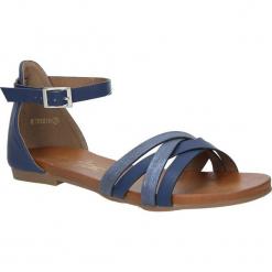 Granatowe eleganckie sandały z zakrytą piętą Casu K18X9/N. Szare sandały damskie marki Casu. Za 39,99 zł.
